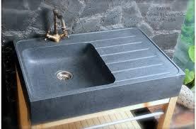 evier de cuisine en évier en pour cuisine granit véritable 90x60