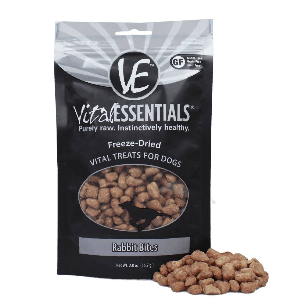 Vital Essentials Freeze Dried Treats - Rabbit Bites - 2 oz.
