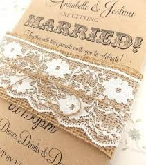 Bridal Shower Invitations Burlap And Lace Country Rustic Wedding