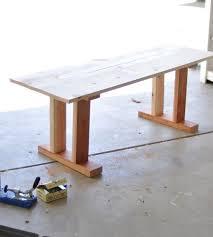 Diy Wooden Table Top by Best 25 Diy Table Legs Ideas On Pinterest Farmhouse Lighting