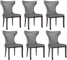 casa padrino luxus esszimmer stuhl set silber dunkelbraun 50 x 50 x h 90 cm edles küchen stühle 6er set luxus esszimmer möbel