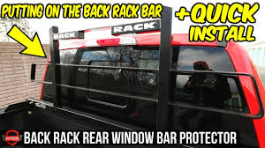 100 Truck Rear Window Guard Putting The New BackRack Bar On The F250 Unboxing Quick Overview
