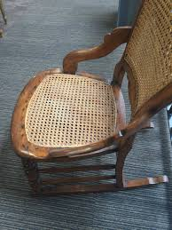 Victorian Balloon Back Rocking Chair Cane Seat - Antiques Atlas