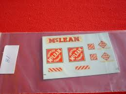 Dinky Toys 948 MCLEAN Trucking Mclean Company TRANSFERS DECALS