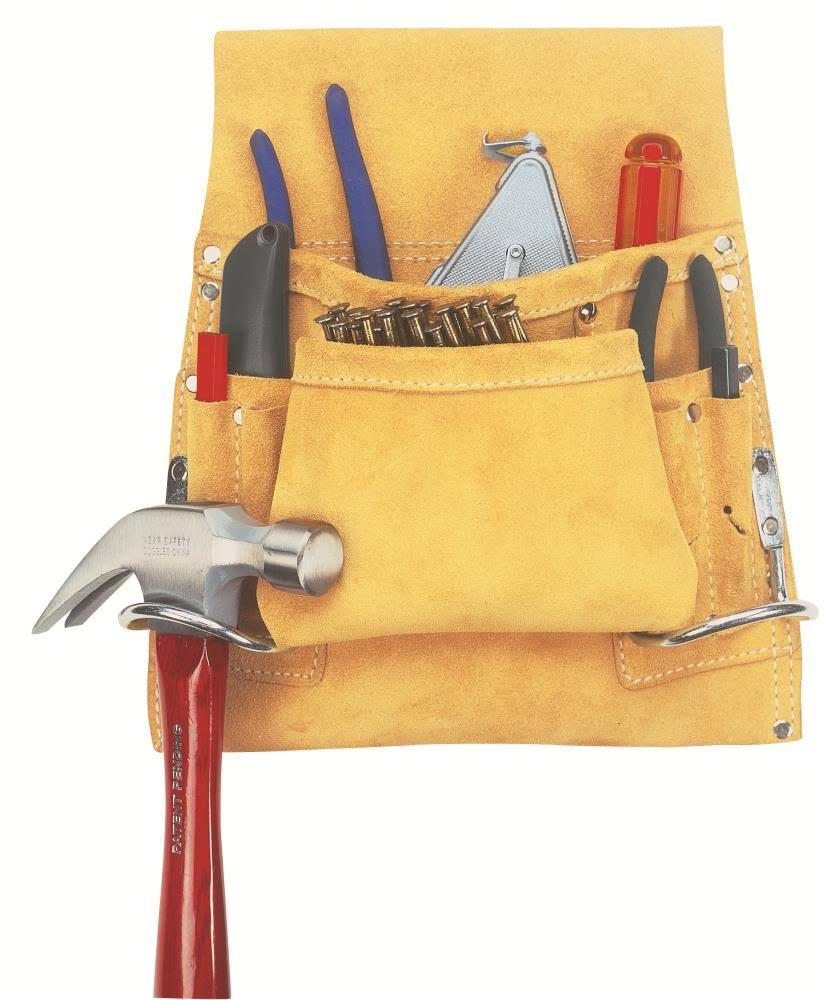 Custom LeatherCraft I823X 8-Pocket Carpenter's Nail and Tool Bag