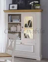 highboard flair 108x152x42cm kiefer esszimmerschrank vitrine massiv landhausstil weiß