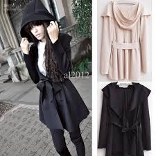 2017 fashion women u0027s hooded trench coat outerwear dress style tops