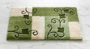 badematte grün beige wollweiss bad teppich bad garnitur