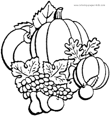 Thanksgiving Color Page Holiday Coloring Pages Plate Sheetprintable