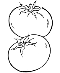 Fruits And Vegetables Coloring Pages For Kids Printable
