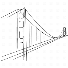 Golden Gate Simple Tattoo Drawing U2026 Bridge Tattoo Pinteu2026
