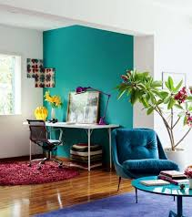 InteriorSuitable And Colorful Interior Design Ideas For Main Rooms Nice Looking Small Apartment With Cozy Turquoise Chair