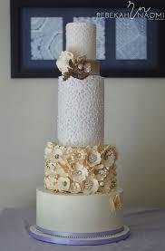 Rebekah Naomis Bejeweled Ivory Gold Purple Wedding Cake We This Moncheribridals