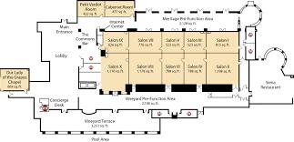 Floor Plan For A Restaurant Colors Award Winning Conference Center Napa Venue The Meritage Resort