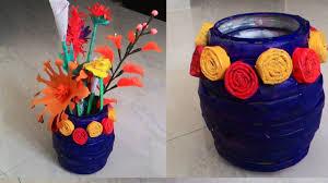 How To Make Newspaper Flower Vase Crafts
