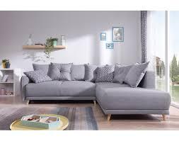 type de canapé lena canapé d angle droit gris clair convertible au style scandinave