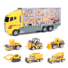 7pcs Large Construction Truck Excavator Digger Kid Diecast Model Toy ...