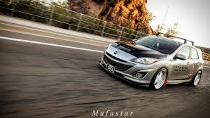 Unique Slammed Mazdaspeed 3 [4k] Launch Control