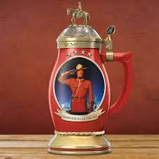 Steins Christmas Trees by The Rcmp Porcelain Stein Hammacher Schlemmer