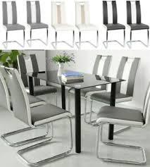 details zu 2 tlg esszimmerstühle set freischwinger stühle schwingstuhl hochlehner esszimmer