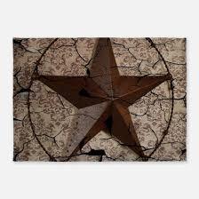 Rustic Texas Lone Star 5x7Area Rug
