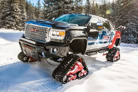 GMC Sierra All Mountain Concept Is Designed To Dominate Snow ... American Track Truck Car Suv Rubber System Canam 6x6on Tracks Atv Sxs Quads Buggies Pinterest Atv Halftrack Wikipedia Major Snowshoes For Your Car Snow Track Kit Buyers Guide Utv Action Magazine Gmc Pickup On Snow Tracks Tote Bag Sale By Oleksiy Crazy Rc Semi 6wd 5 Motors Pure Power Testimonials Nissan Tames Snow With Winter Warrior Track Trucks Video