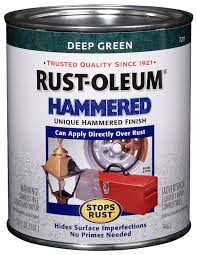 Harbor Freight Sandblast Cabinet Protective Film by Rust Oleum 7211502 Hammered Metal Finish Deep Green 1 Quart