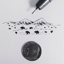 Take A Look At These Incredibly Tiny Illustrations Of The American West By California Based Artist Sam Larson Now Go Grab Penny And Then