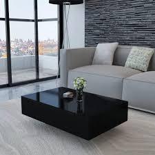 100 Living Room Table Modern Coffee Furniture Home Office High Gloss