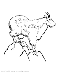 Free Farm Worksheets Interesting Goat Animal Coloring Pages Wild Page Mountain