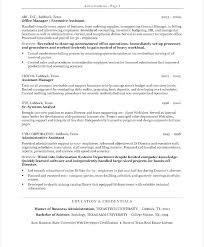 Resume Summary Examples For Office Manager With Administrative Executive Assistant The Benefits