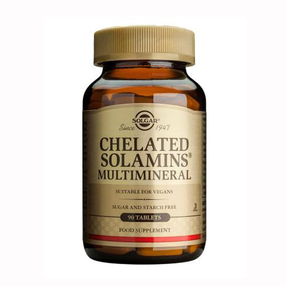 Solgar Chelated Solamins Multimineral - 90 tablets
