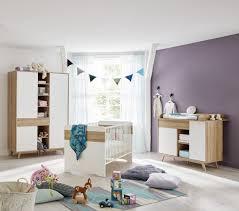 photo chambre bebe chambre bébé contemporaine chêne blanc perrine soldes chambre à