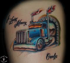 100 Semi Truck Tattoos Gallery Browse Worlds Largest Tattoo Image