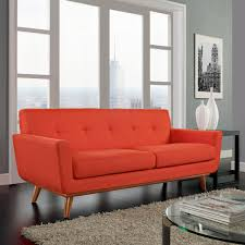 Engage Upholstered Loveseat Atomic Red By Modern Living