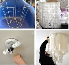 DIY Capiz Shell Chandelier Tons Of Wax Paper Circles Sewed Together You Double The