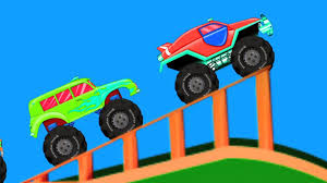 100 Monster Truck Kids Monster Trucks Kids Car Race Racing Video For Toddlers