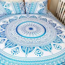 Ombre Mandala Duvet Cover Indian Reversible Quilt Cover Throw