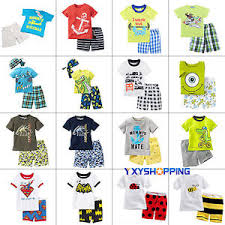 Image Is Loading 2pcs Toddler Kids Boys Girls Summer Clothes T