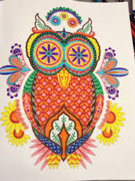 When I Flip Through My Finished Adult Coloring Books The Color On Some Pages Seems Scattered Like This Owl Did A While Ago