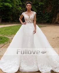 aliexpress com buy noble detachable train lace wedding dresses