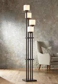 Halogen Floor Lamps Bed Bath And Beyond by Light Tree Four Light Bronze Torchiere Floor Lamp Amazon Com