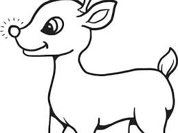 Pics Photos Cute Reindeer Free Printable Coloring Pages