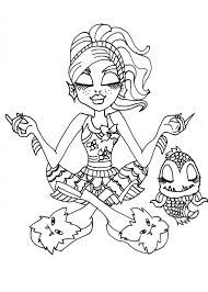 Lagoona And Neptuna Coloring Sheet CLICK HERE TO PRINT Free Printable Monster High Blue With Pet