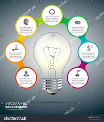 vector light bulb circle elements infographic stock vector
