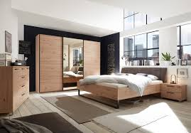 details zu schlafzimmer set kleiderschrank bett kommode eiche spiegel bronze 270cm 3 türen