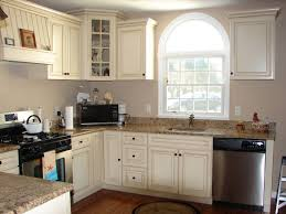Antique White Cabinets With Grey Walls