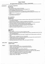 Janitor Resume Examples R8PF Janitorial Samples