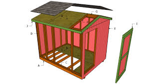 Slant Roof Shed Plans Free by 10 X 12 Modern Shed