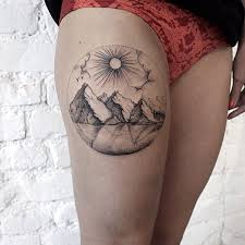 A More Intricate Mountain Tattoo
